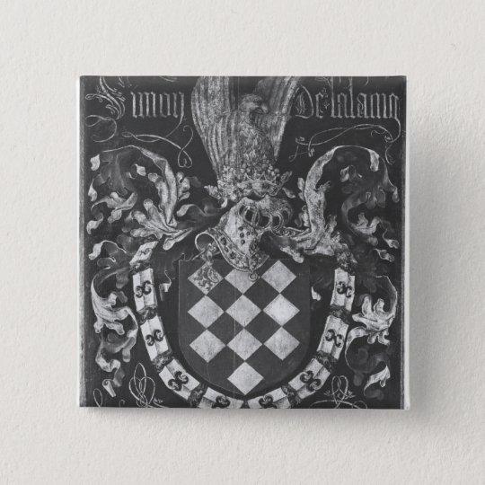 Coat of Arms of Simon de Lalaing 15 Cm Square Badge