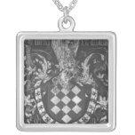 Coat of Arms of Simon de Lalaing Square Pendant Necklace