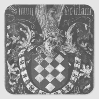 Coat of Arms of Simon de Lalaing Square Sticker