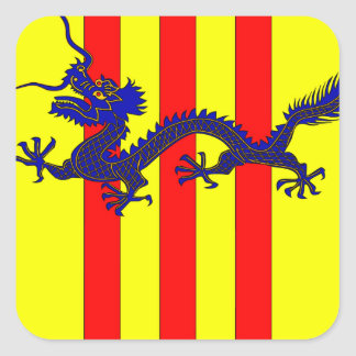 Coat of Arms of South Vietnam (1954 - 1955) Square Sticker