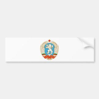 Coat of arms of SR Bulgaria Car Bumper Sticker