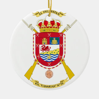 Coat of Arms of the 50th Light Infantry Regiment Round Ceramic Decoration
