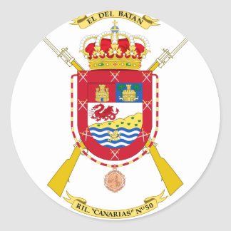 Coat of Arms of the 50th Light Infantry Regiment Round Sticker