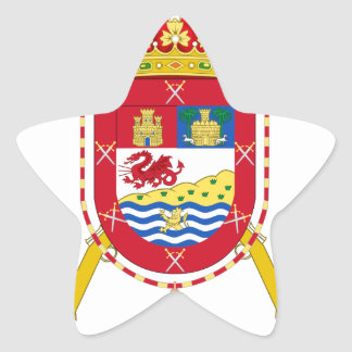 Coat of Arms of the 50th Light Infantry Regiment Star Sticker