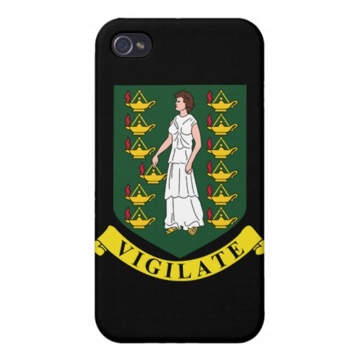 Coat of arms of the British Virgin Islands Cases For iPhone 4