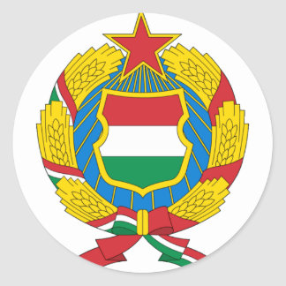 Coat of Arms of the Communist Hungary Round Sticker