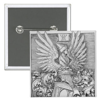 Coat of Arms of the Durer Family 15 Cm Square Badge