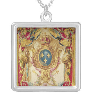 Coat of arms of the French Royal Family Silver Plated Necklace