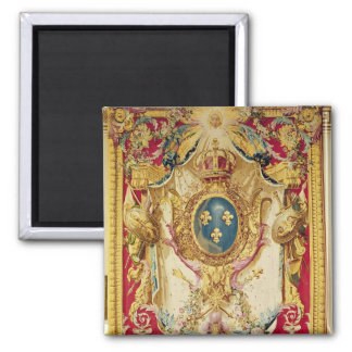 Coat of arms of the French Royal Family Square Magnet