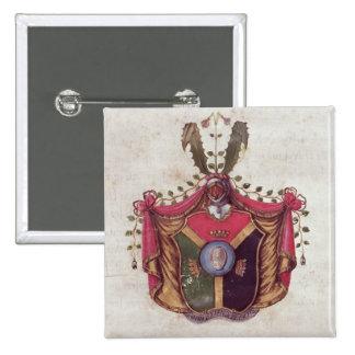 Coat of Arms of the Linnaeus family 15 Cm Square Badge
