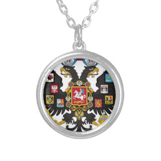 Coat of Arms of the Russian Empire Round Pendant Necklace