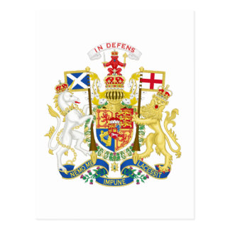 Coat of Arms of the United Kingdom in Scotland Postcard