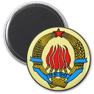 COAT-OF-ARMS OF YUGOSLAVIA 6 CM ROUND MAGNET