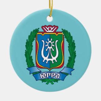Coat of arms of  Yugra Christmas Ornament
