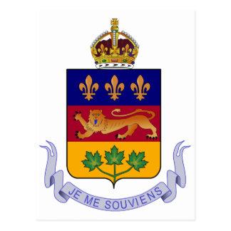 Coat of arms Québec Official Canada Heraldry Logo Postcard