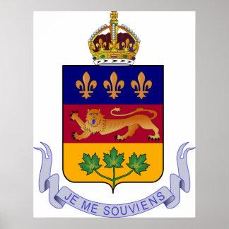 Coat of arms Québec Official Canada Heraldry Logo Poster