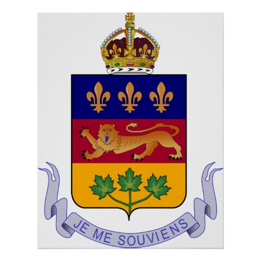 Coat of arms Québec Official Canada Heraldry Logo Posters
