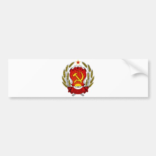 Coat of Arms Russia SFSR Official Heraldry Symbol Bumper Sticker
