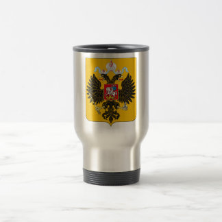 Coat of Arms Russian Empire Official Russia Logo Stainless Steel Travel Mug