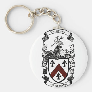 Coat of arms - Transfixus sed non morbus (redchev) Key Ring