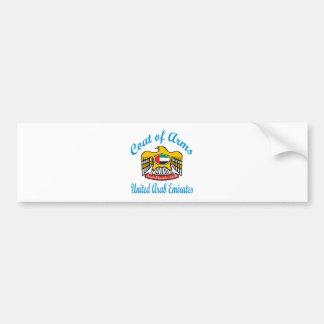 Coat Of Arms United Arab Emirates Bumper Sticker