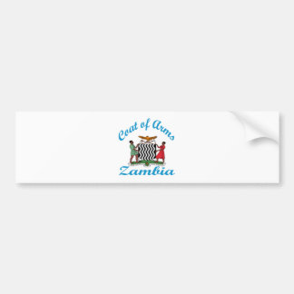 Coat Of Arms Zambia Bumper Sticker