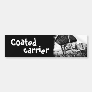 coated carrier bumper sticker