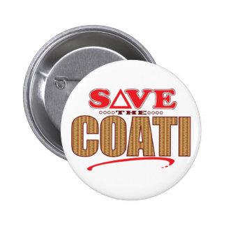 Coati Save 6 Cm Round Badge