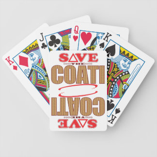 Coati Save Bicycle Playing Cards