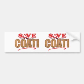 Coati Save Bumper Sticker