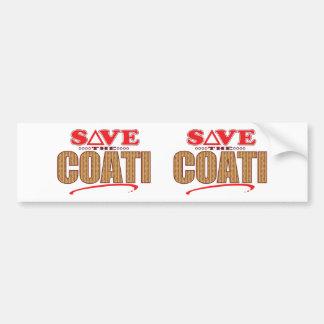 Coati Save Bumper Sticker