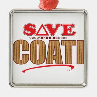 Coati Save Christmas Ornament