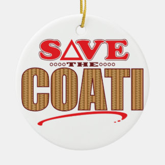 Coati Save Christmas Ornament