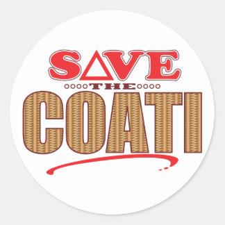 Coati Save Classic Round Sticker