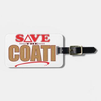 Coati Save Luggage Tag