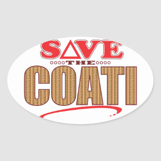 Coati Save Oval Sticker
