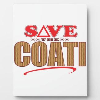 Coati Save Plaque