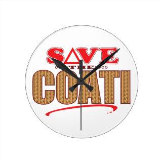 Coati Save Round Clock