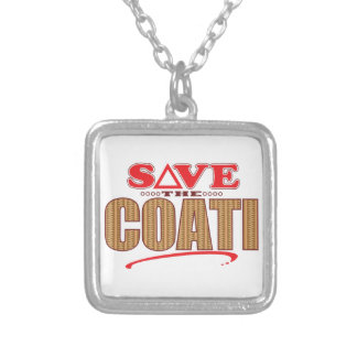 Coati Save Silver Plated Necklace