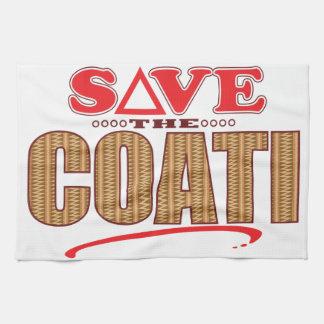 Coati Save Tea Towel