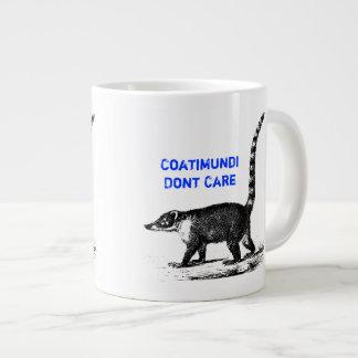 Coatimundi Dont Care Design Large Coffee Mug