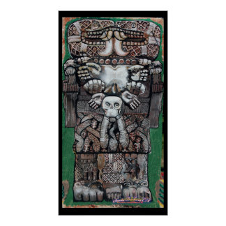 coatlicue, earth goddess print