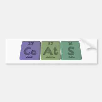 Coats-Co-At-S-Cobalt-Astatine-Sulfur.png Bumper Stickers