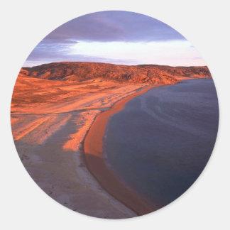 Coats Island Coastline, Hudson Bay, NWT, Canada Stickers