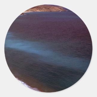 Coats Island coastline, Hudson Bay, NWT, Canada Round Sticker