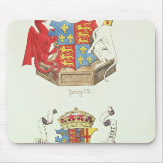 Coats of Arms of Henry VII  and Elizabeth of York Mouse Pad