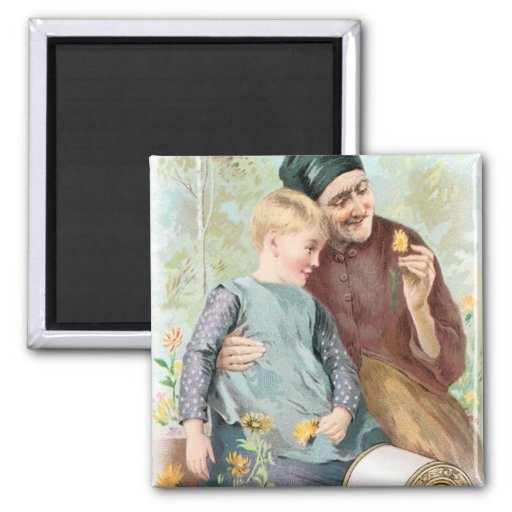Coats Old Man with Little Boy Refrigerator Magnets