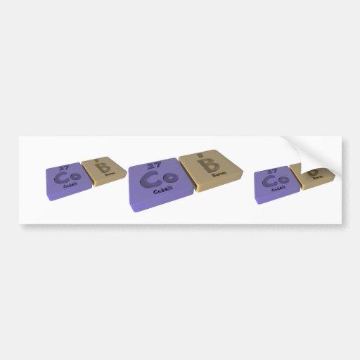 Cob as Co Cobalt and B Boron Bumper Sticker