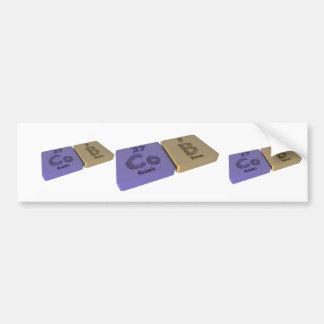 Cob as Co Cobalt and Ca Calcium Bumper Sticker