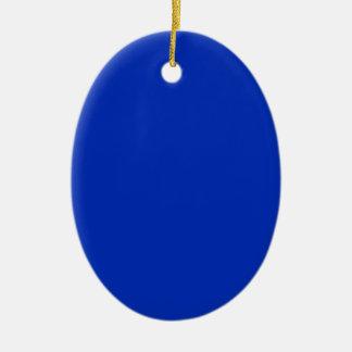 COBALT BLUE (a solid rich color) ~ Ceramic Oval Decoration